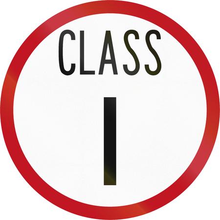 new zealand word: New Zealand road sign RH-1 - Road class I.