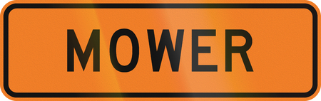 auxiliary: New Zealand temporary road sign - Mower.