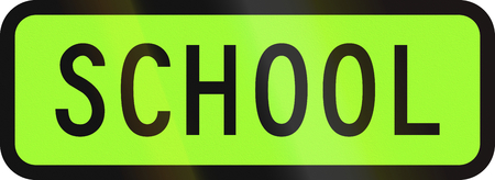 designated: New Zealand road sign - Designated school vehicle.