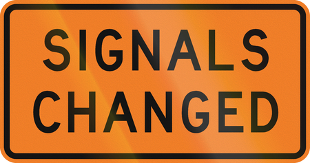changed: New Zealand road sign - Signals have changed.