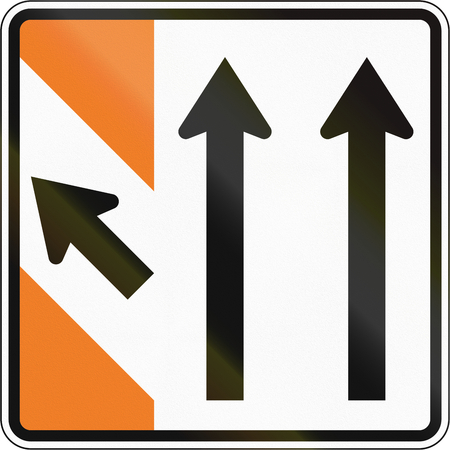 exit sign: New Zealand road sign - Advance exit sign. Stock Photo
