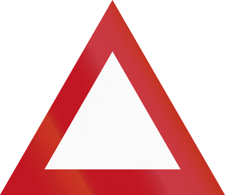 general warning: New Zealand road sign - Miscellaneous warning triangle.