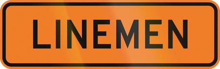 linemen: New Zealand road sign - Linemen.