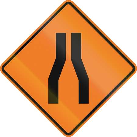 quadratic: New Zealand road sign - Road narrows on both sides.