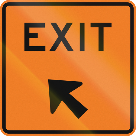 exit sign: New Zealand road sign - Exit sign.