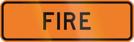 new zealand word: New Zealand road sign - Fire ahead.