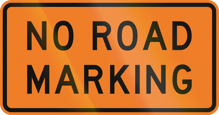 auxiliary: New Zealand road sign - No road markings.