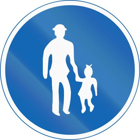 pedestrian walkway: Japanese regulatory road sign - Pedestrians Only.