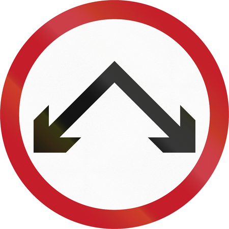 either: Old version of road sign in the Philippines - Pass On Either Side.