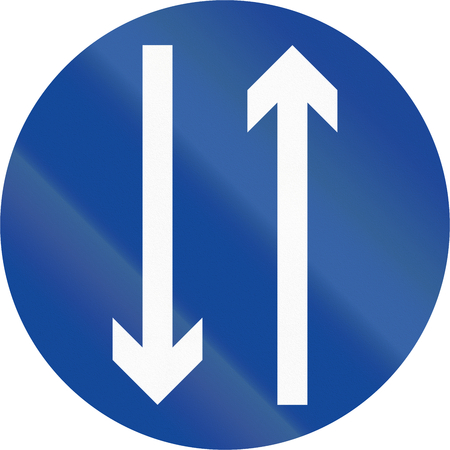 two way traffic: Road sign in the Philippines - Two Way Traffic.