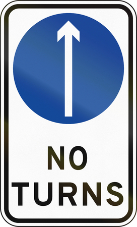 proceed: Road sign in the Philippines - Direction To Be Followed - Proceed Straight Only.