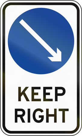 keep in: Road sign in the Philippines - Keep Right.