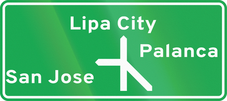 diagrammatic: Road sign in the Philippines - Diagrammatic Direction Sign.