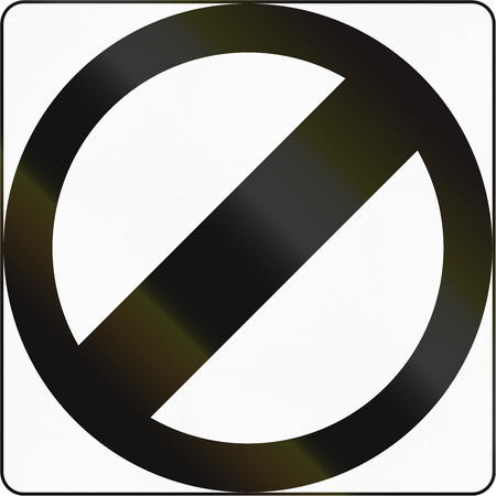 speed limit: Road sign in the Philippines - Speed Limit Derestriction. Stock Photo
