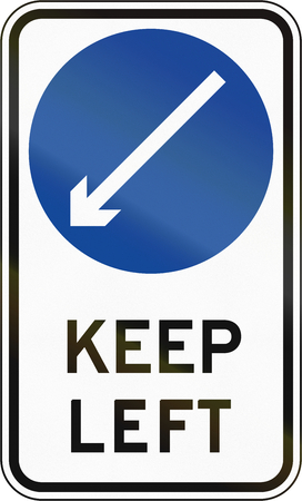 keep in: Road sign in the Philippines - Keep Left.