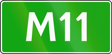 number 11: Sign of the Russian highway number M11.