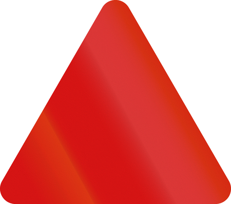 general warning: General danger sign which is used in Pakistan. Stock Photo