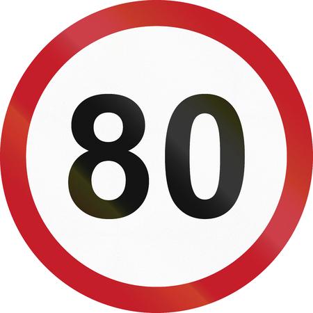 kph: Road sign in the Philippines - Speed limit - Maximum 80 kph.