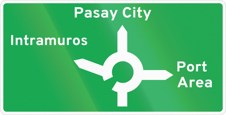 Road sign in the Philippines - Diagrammatic Direction Sign.