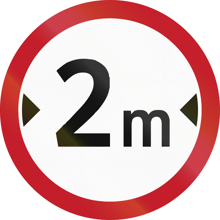 restriction: Road sign in the Philippines - Width restriction road sign in the Philippines.