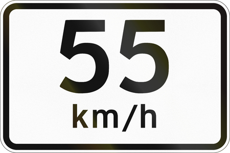 advisory: Additional Panel for road sign in the Philippines - Advisory Speed Limit. Stock Photo