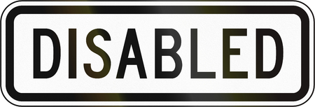 additional: Additional Panel for road sign in the Philippines - Disabled Pedestrians.