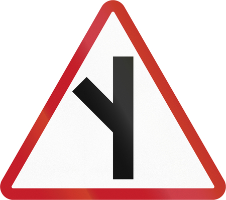 junction: Road sign in the Philippines - Side Road Junction. Stock Photo