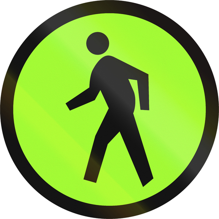 quadratic: Road sign in the Philippines - Pedestrian or zebra crossing. Stock Photo