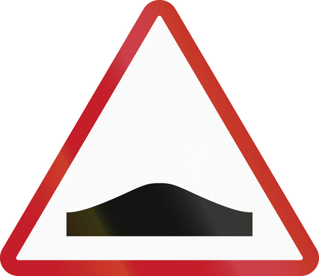 humps: Road sign in the Philippines - Humps. Stock Photo