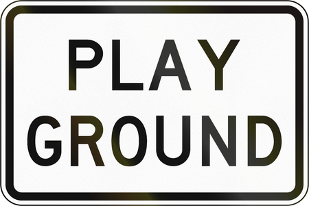 additional: Additional Panel for road sign in the Philippines - Playground. Stock Photo