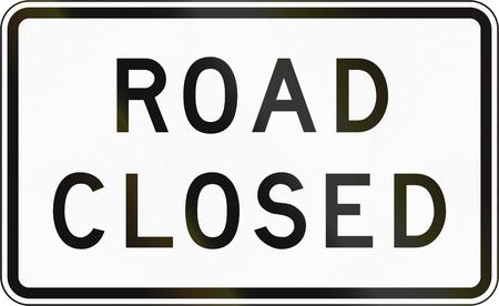 Verkeersbord in de Filipijnen - Weg afgesloten.