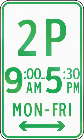 restricted: Road sign in the Philippines - Restricted Parking (2 hours parking). Stock Photo