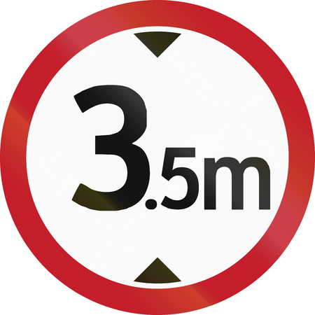 height: Road sign in the Philippines - Height restriction road sign in the Philippines.