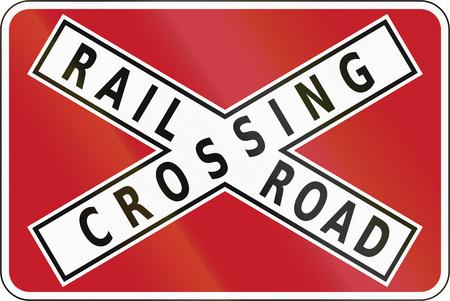 railroad crossing: Road sign in the Philippines - Railroad Crossbuck.