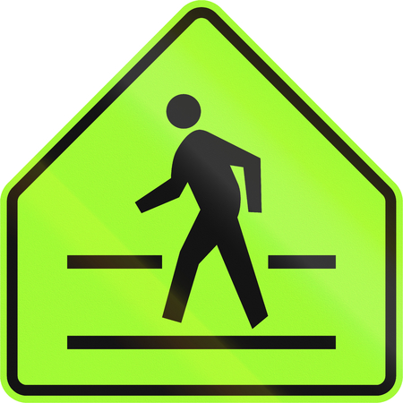 pedestrian crossing: Road sign in the Philippines - Pedestrian crossing sign.