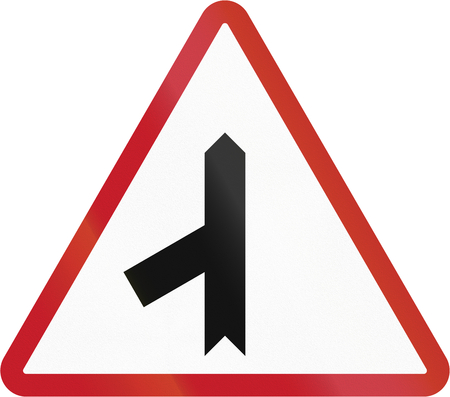 red sign: Road sign in the Philippines - Priority Road.