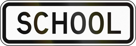 additional: Additional Panel for road sign in the Philippines - School Children. Stock Photo