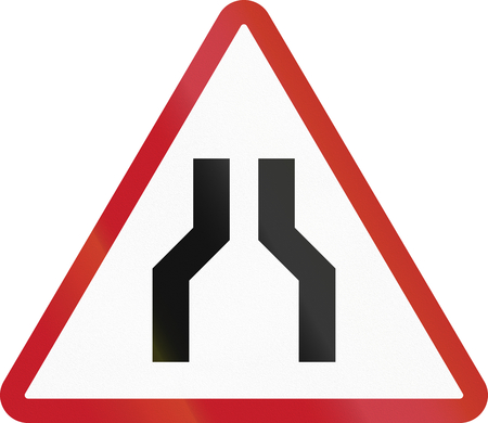 Road sign in the Philippines - Road Narrows.