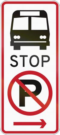 Verkeersbord in de Filipijnen - Geen parking, bushalte.