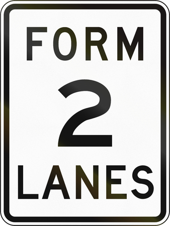 lanes: Road sign in the Philippines - Form 2 Lanes.