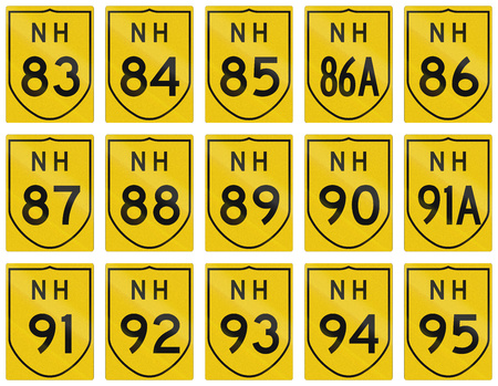 highways: Collection of route shields of Indian National highways.