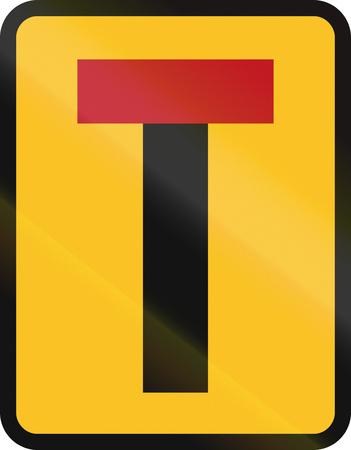 dead end: Temporary Cul-de-sac (dead end) sign in South Africa.