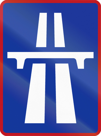 carriageway: Sign marking the beginning of a Dual-carriageway in South Africa.