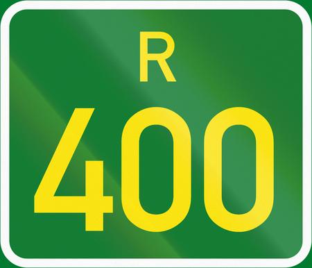 regional: South Africa Regional Route shield - R400.