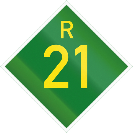 provincial: South Africa Provincial Route shield - R21.