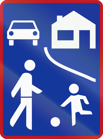 residential zone: Residential Shared Zone sign in South Africa.