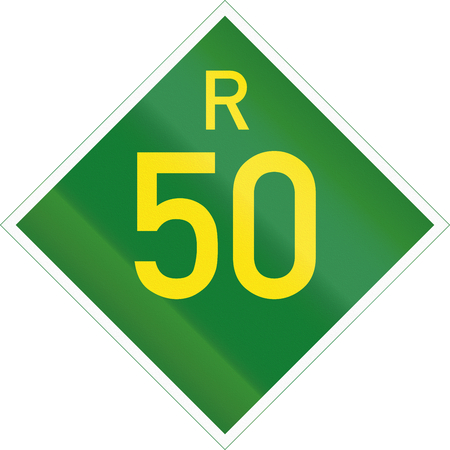 provincial: South Africa Provincial Route shield - R50.