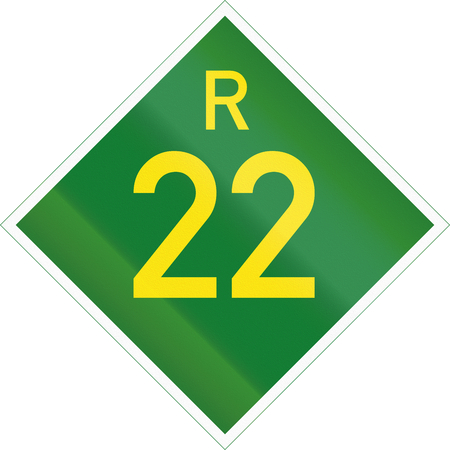 provincial: South Africa Provincial Route shield - R22.