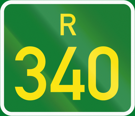 regional: South Africa Regional Route shield - R340.