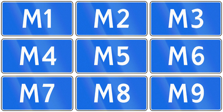 highway 6: Collection of road shields of Russian M Highways.